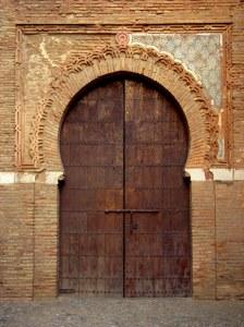 Alhambra Palace Portico, Granada, Spain
