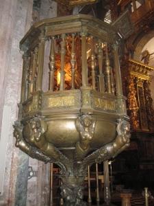 Pulpit Santiago Cathedral, Galicia,Spain