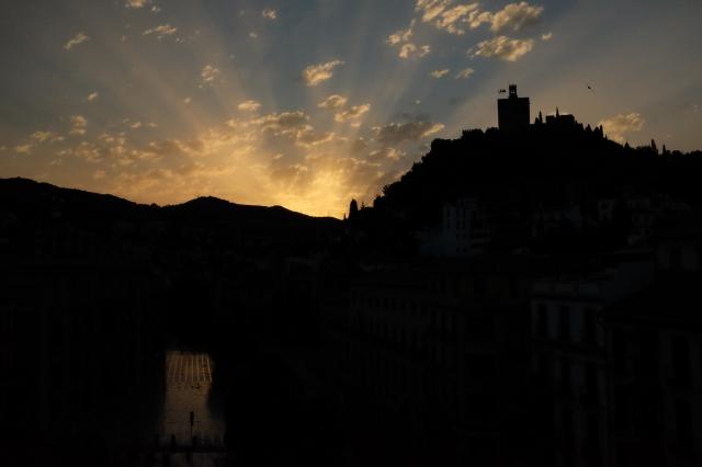 Sunrise over Granada, Spain