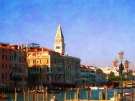Venice - View of Saint Marc's 2 - Oil Painting _ Hand Signed