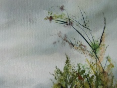 Art - Wonky Man and Tower - Oil on Canvas 20x24 - Foliage Detail 2 - 3T