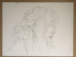 Detailed layout sketch. Third sketch in my 'Portrait of Grace' series.