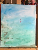 Lighthouse at Seven Sisters National Park, by Maria Jones-Phillips, 2019