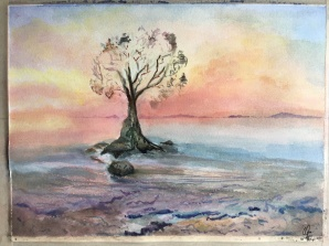 The Glass Tree - Watercolour, 9x12 in., 2020.