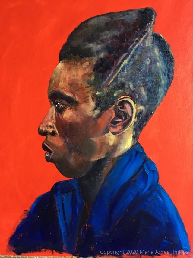 Portrait of a Rwandan Man – Work in Progress